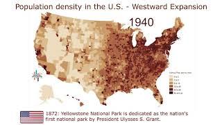 U.S. Population Density (1790–2010) - Westward Expansion