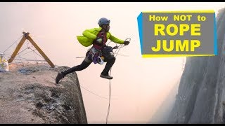 How Not to Rope Jump - Extreme Rope Jumping off Highlines!
