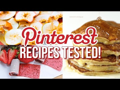 Video Healthy Pinterest Recipes TESTED! 3-ingredients or Less!