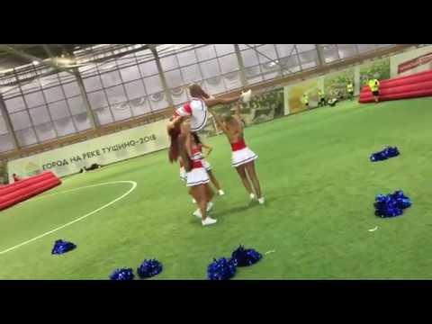 Группа поддержки Lucky Demons  ( чирлидинг ) на Кубке Химии по мини-футболу