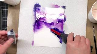Alcohol Ink Art Time-lapse 1