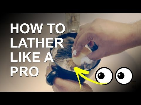 How to Lather a Shaving Soap in a Bowl or Mug - Hard Puck Lathering Tutorial