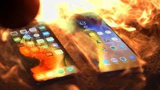 Elon Musk Flamethrower: iPhone XS vs Galaxy Note 9