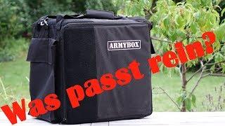 Was geht alles in den Armybox Transport Koffer für Tabletop Miniaturen rein?