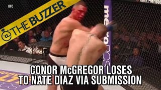 Conor McGregor loses to Nate Diaz in stunning fashion in UFC 196