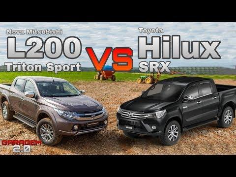Toyota Hilux SRX VS Mitsubishi L200 Triton Sport 2019 - (Garagem 2.0)