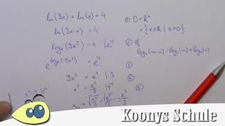 Exponentialgleichung lösen, Gleichungen lösen, Logarithmus, log ...