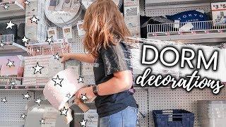 College Dorm Room DECOR SHOPPING At 5 Below Vlog