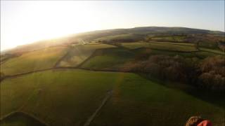 preview picture of video 'Hot Air Balloon Flight Towy Valley Friday April 19 2013'