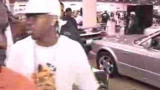 Chamillionaire walks around at Car Show with Chamillitary