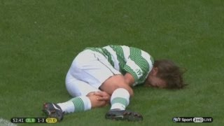 Ouch! One Directions Louis Tomlinson Tackle By Gabriel Agbonlahor