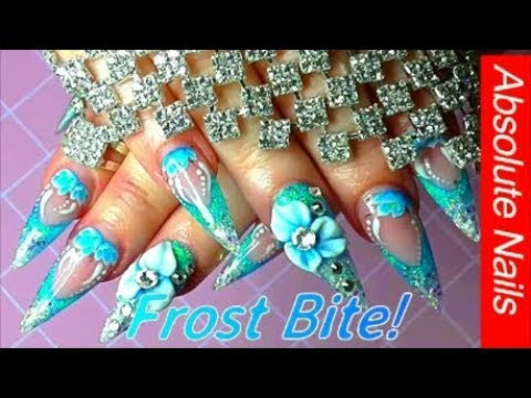 FROST BITE ACRYLIC NAILS | ABSOLUTE NAILS