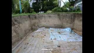 GFK Schwimmbecken - Fertigschwimmbecken-Pooleinbau-Bauarbeiten