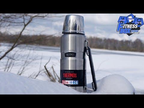 Thermoskanne von Thermos im Test: Bis zu 12 Stunden ein HEIßES Getränk genießen ☕ // 1,2 Liter