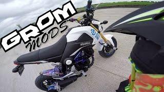Grom Mods | 40 Tooth Sprocket & Axle Sliders | 50 Stunt