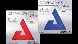 Joola Dynaryz - die neuen Premium Tischtennisbeläge AGR und ACC im Test bei spinfactory.de