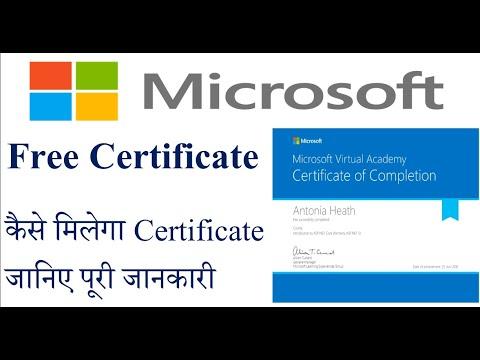 microsoft free certificate during lockdown - YouTube