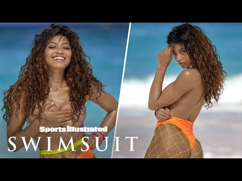 Danielle Herrington Spices It Up With Fishnet Stockings | Candids | Sports Illustrated Swimsuit