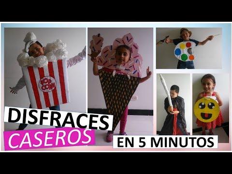 5 DISFRACES PARA HALLOWEEN CASEROS PARA NIñOS - DIYtubers Halloween Challenge