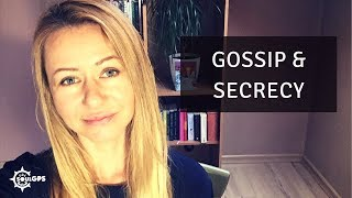 Narcissists feed on gossip & can't keep secrets