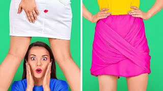 CLUMSY ME! 5 AWKWARD STRUGGLES! Back To School DIY Hacks For Embarrassing Situation by 123GO! SCHOOL