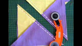 kırkyama dikdörtgende üçgenler motifi