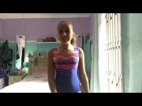 Bad leg gymnastics challenge | Rebecca the gymnast
