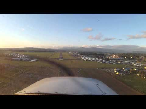 River run and landing in a tailwheel 150