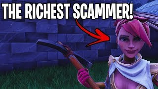 The richest scammer just lost his entire inventory! (Scammer Get Scammed) Fortnite Save The World