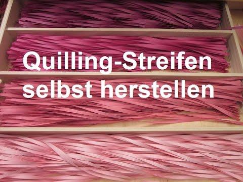 Quilling Streifen selbst herstellen (Tutorial)