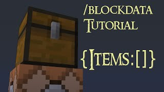 How the /blockdata command works (Basics) - Minecraft Tutorial