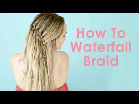 How To Waterfall Braid - Hair Tutorial for Beginners! - KayleyMelissa