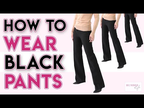 How To Wear Black Pants | 10 Office Outfit Ideas