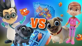 Romeo and Poppy Play the Piranha Panic Game! Featuring the Puppy Dog Pals
