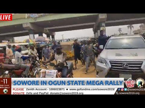 LIVE: Omoyele Sowore rallying in Ijebu Ode Ogun State. #TakeItBack #AACParty #SoworeRufai2019