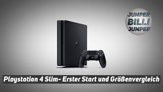 PS4 Slim Erster Start, Größenvergleich mit der PS3 Deutsch