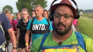 Vierdaagse Nijmegen 2019 - Sven lopen met Mo Hersi World Team