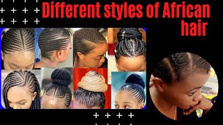 Different styles of African hair