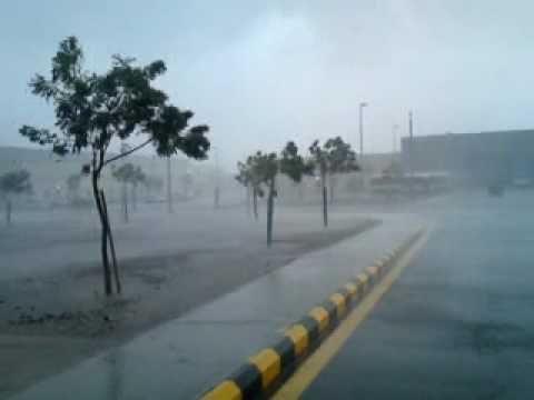 30/12/2010 Rain in Kaust – امطار جامعة الملك عبدالله – ثول