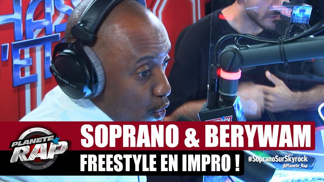 SOPRANO balance un GROS freestyle en IMPRO ! (feat. Berywam) #PlanèteRap