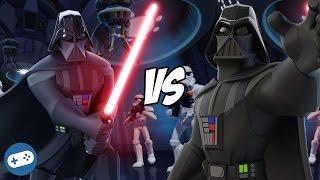Darth Vader VS Darth Vader Disney Infinity 3.0 Star Wars Toy Box Boss Battle Versus