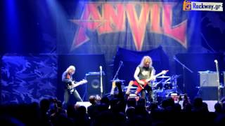 "ANVIL ""Free As The Wind"" (19/3/16) live @ Athens HQ"