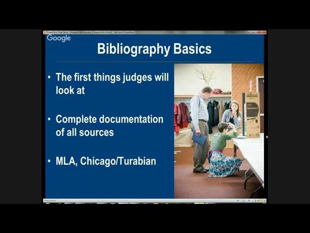How To Create Your NHD Bibliography