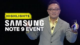 Samsung's Note 9 Unpacked event highlights in 10 minutes