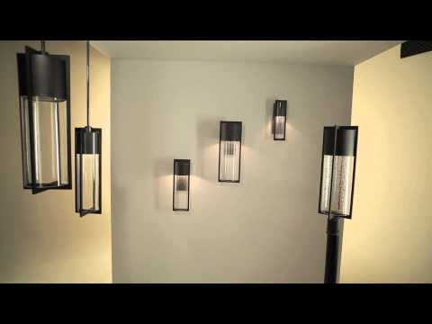 Video for Shelter Black One-Light Large Outdoor Wall Light