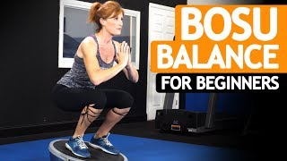 TOP 6 Bosu Ball Balance Exercises For BEGINNERS & SENIORS