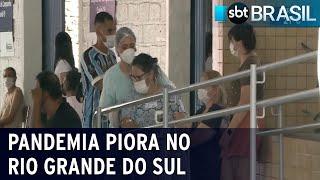 Covid-19: RS tem regiões com risco máximo de contágio pela primeira vez   SBT Brasil (12/12/20)
