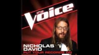 Nicholas David: 'Put Your Records On' - The Voice (Studio Version)