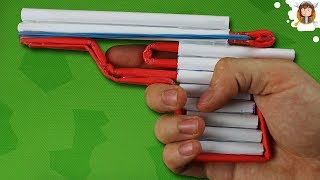 How to Make an Airsoft Gun - Paper Pistol - Improved Trigger