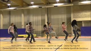 preview picture of video '16/01/2015 - Démo Hip hop (N3) - Dance Factory Gembloux - Centre de danse'